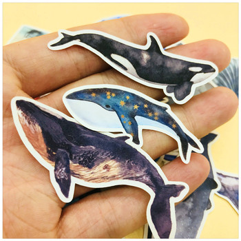 28 PCS\SET Cute Whales And Lighthouse Sticker Diy Diary Label Scrapbooking Stickers Junk Journal Planner Decorative Stationery 6 pcs pack cute creative kawaii diary planner stickers for stationery scrapbooking diy diary album journal stick label
