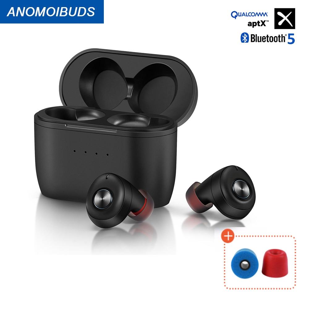 Anomoibuds Qualcommchip Aptx Wireless Headphones Bluetooth Headphones Headphones  Wireless Bluetooth headset Sport entertainment