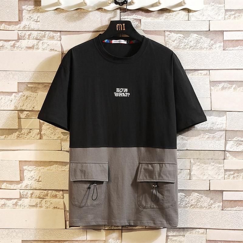 Short Sleeve T Shirt Men 2020 Summer Loose Tshirt Top Tees HIP HOP PUNK ROCK Fashion Clothes Plus Size M-4XL 5XL O NECK