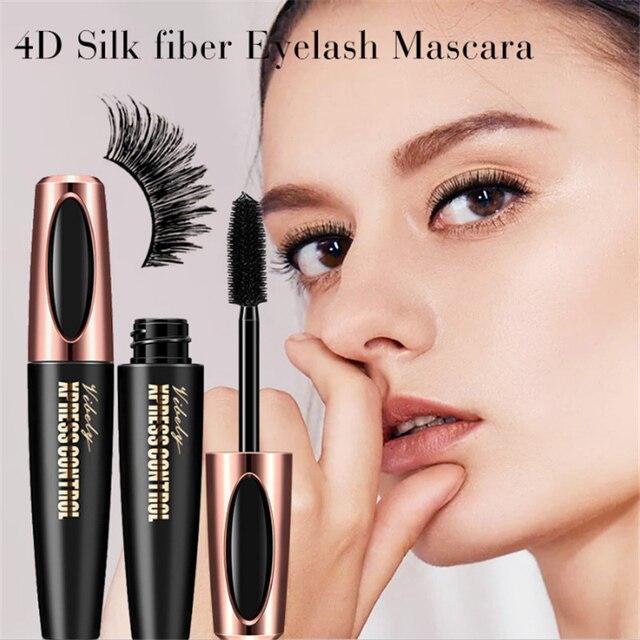 Waterproof 4D Silk Fiber Eyelash Thick Lengthening Black Mascara Fashion Sexy Makeup Cosmetics Eye Lash Extension Cream 1
