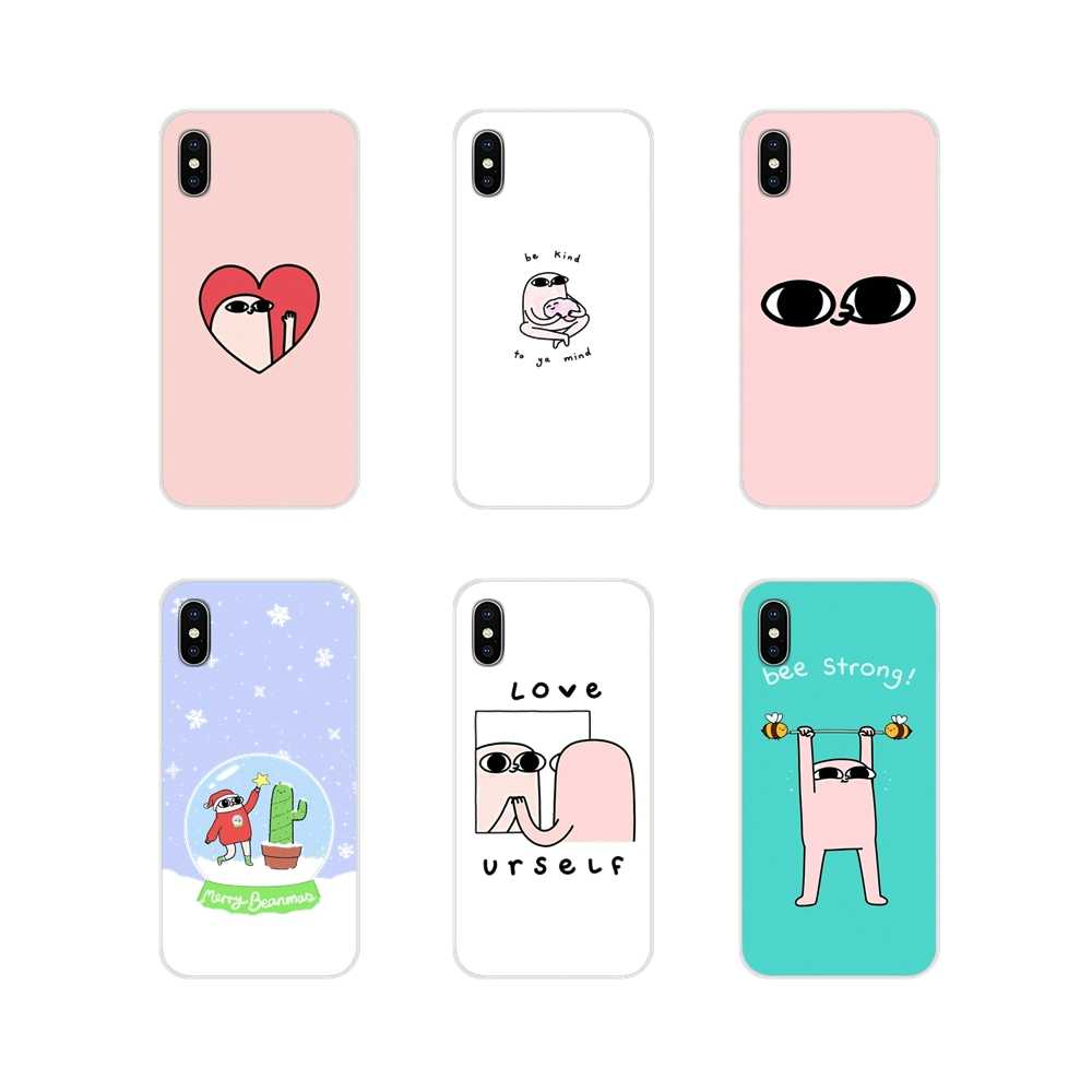 Mobiele Telefoon Shell Cover Voor Apple iPhone X XR XS 11Pro MAX 4S 5S 5C SE 6S 7 8 Plus ipod touch 5 6 cartoon roze grote ogen ketnipz