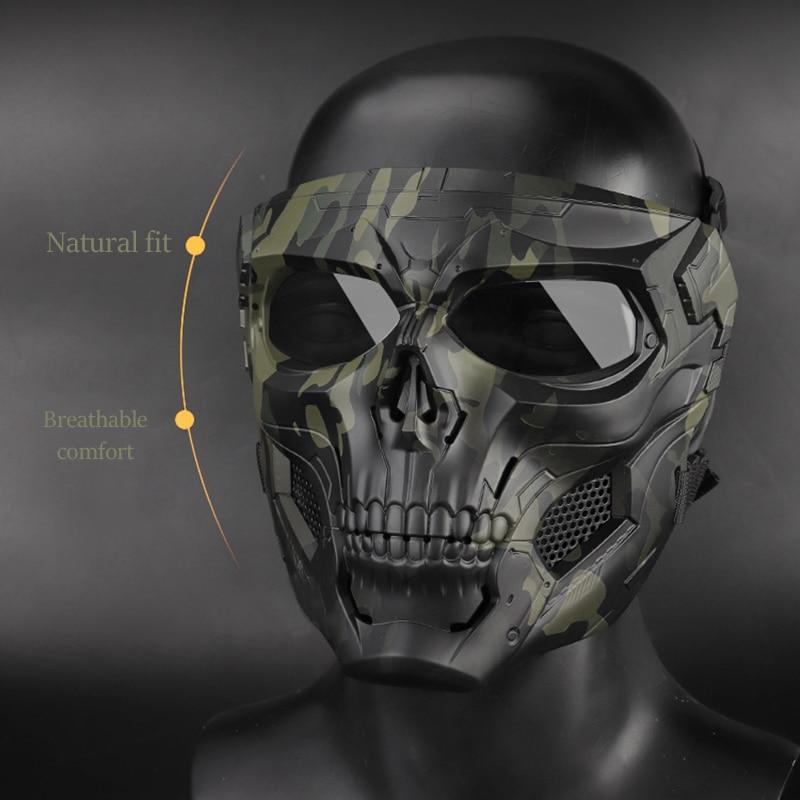 Skull Mask, Full Face Protective Paintball Masks For Airsoft Paintball Outdoor Cs War Game BB Gun Halloween Skeleton Masks