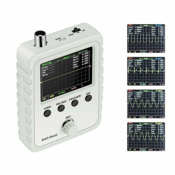 цена на 2.4 LCD Display DSO150 Digital Oscilloscope Assembled With Case Test Clip DIY Oscilloscope Electronic Measuring Instruments