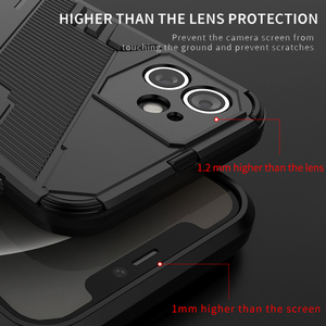 Image 3 - For Oppo Reno5 Pro 5G Case Cover Shockproof Silicone Bumper Stand Holder Armor Hard Phone Back Cover For Reno 5 Pro 5G Casing
