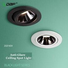 [DBF]2020 חדש נגד בוהק LED תקרה משובצת ספוט אור 7W 12W גבוהה CRI≥ 90 LED שקוע Downlight לסלון בית מעבר