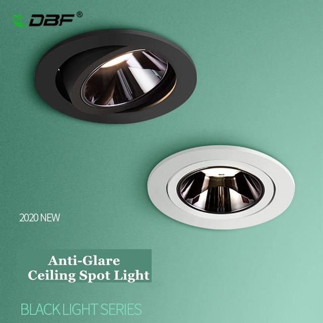 [DBF]2020 Neue Anti glare LED Embedded Decke Spot Licht 7W 12W Hohe CRI≥ 90 LED Einbau downlight für wohnzimmer Hause Gang
