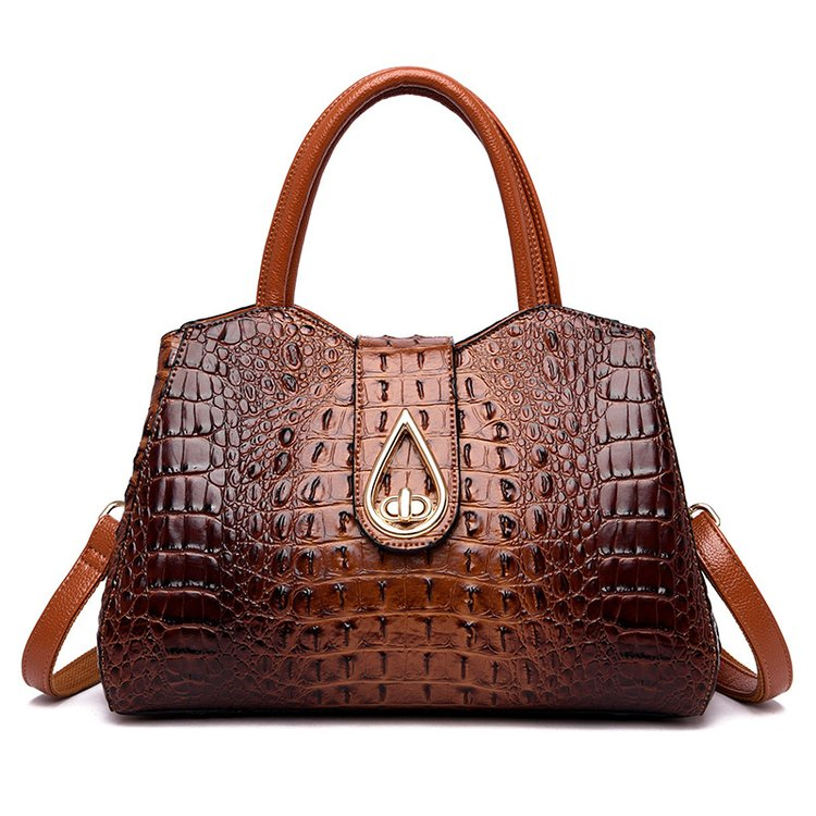 Vintage Fashion Crocodile Genuine Leather Ladies Handbag Brand Women Bag Designer Female Shoulder Bag Gift Party Bolsas Feminina