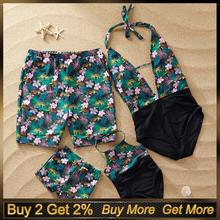 Moda chłopiec stroje kąpielowe chłopcy Strój Kąpielowy dzieci Floarl drukowanie kąpielówki dla chłopców stroje kąpielowe Strój Kąpielowy dla dzieci chłopiec Strój Kąpielowy tanie tanio Eillysevens Pasuje prawda na wymiar weź swój normalny rozmiar Beach Shorts Suit Beachwear Poliester Drukuj