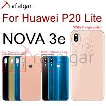 Voor Huawei P20 Lite Back Glas Batterij Cover Panel Nova 3e Achter Behuizing Deur Case Voor 5.84