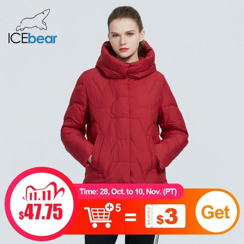 icebear 2020 новая зимняя женская куртка женская приталенная с капюшоном хлопка пальто мода женская одежда GWD20305I|Парки| | АлиЭкспресс