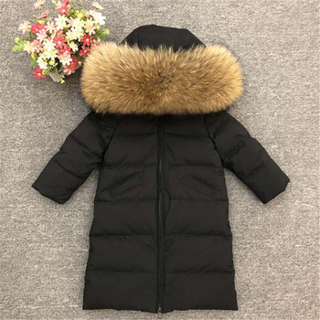Kids Winter Down Jackets Children Thicken Warm X-Long Outerwear Coat For Toddler Baby Boys Girls 1-10 Years Parkas TX034