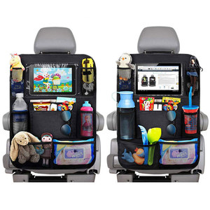 Image 3 - Car Backseat Organizer with Touch Screen Tablet Holder + 9 Storage Pockets Kick Mats Car Seat Back Protectors for Kids Toddlers