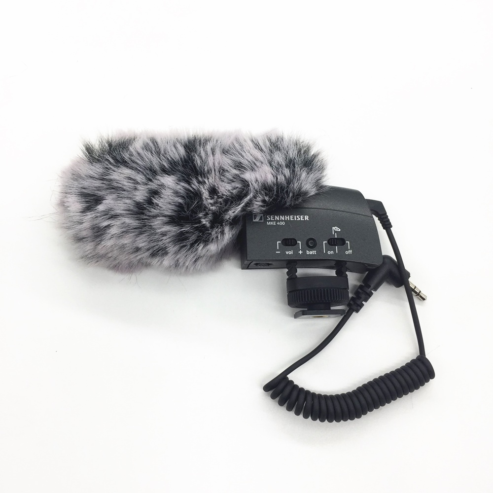 Deat Cat Outdoor Artifical Fur Wind Muff Windscreen Shield For Sennheiser MKE400 Windscreen Shield