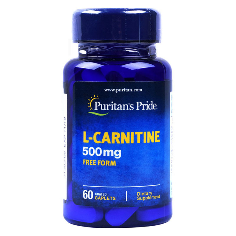 L Carnitine 500 Mg-60 Caplets Compound That Assists In Fat Metabolism Free Shipping