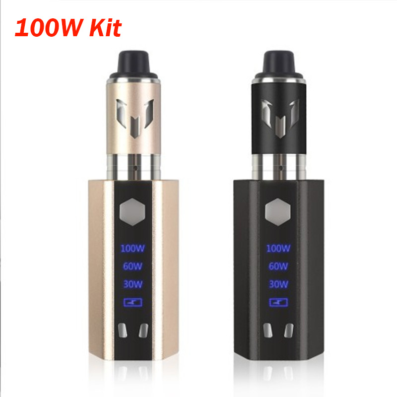 E Cigarette Mod Kit Led Screen Electronic Cigarette 3.5ml Tank 2000mAh Vaporizer 100w  Box Mod Mesh Coil Vs Jsld Ekifee 100W