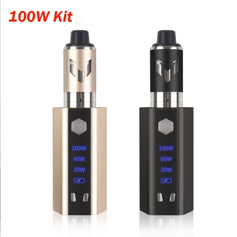 E Cigarette Mod Kit Led Screen Electronic Cigarette 3.5ml Tank 2000mAh Vaporizer 100w  Box Mod Mesh Coil Vs Jsld Ekifee 100W