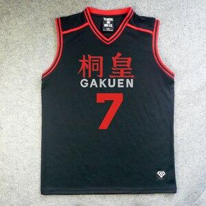 Image 5 - Camiseta de Anime Kuroko No basike, disfraz de Cosplay, uniforme deportivo de equipo de baloncesto escolar de Gakuen, Aomine Daiki maillot, Envío Gratis
