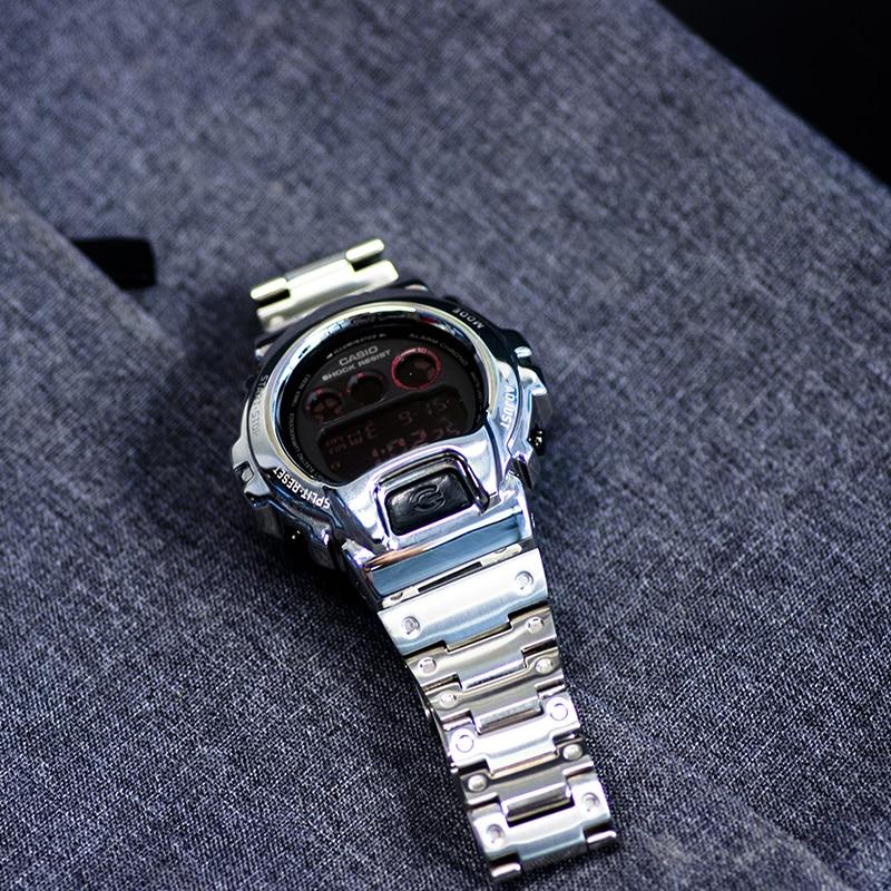 316L acier inoxydable montre Bracelet lunette pour Casio montre Bracelet boîtier pour g-shock accessoires pour DW-6900 DW 6930/6935 Bracelet de montre
