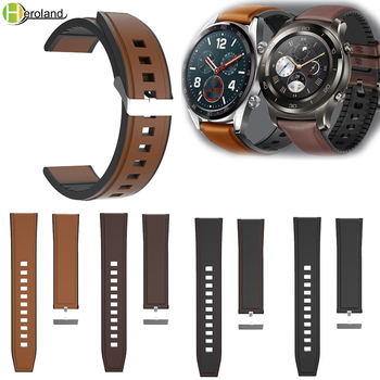 22mm Watch Strap For Huawei Watch GT 46mm/42mm Watchband Leather Wristband For HUAWEI WATCH2 Pro / For Amazfit GTR 47mm Band