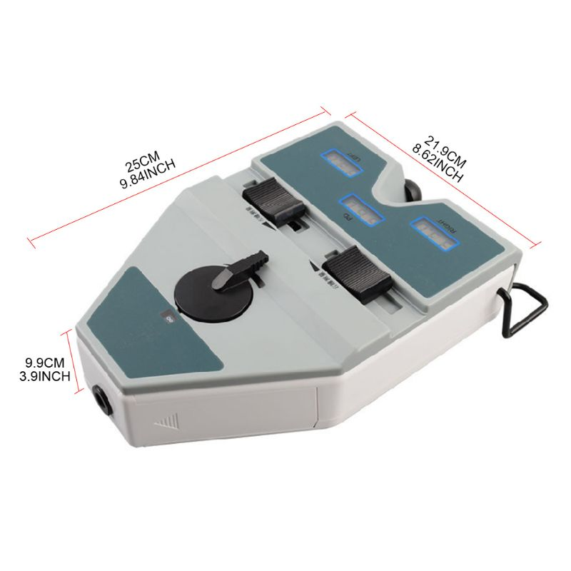Digital Pupilometer Optical PD Ruler LCD Display 40-80mm Pupil Distance Meter Adjustable Visual Range Interpupillary Tester Scal