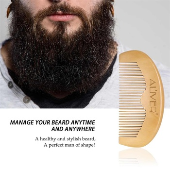 5Pcs/set Men Beard Growth Kit Hair Growth Enhancer Thicker Oil Nourishing Leave-in Conditioner Beard Grow Set with Comb 4