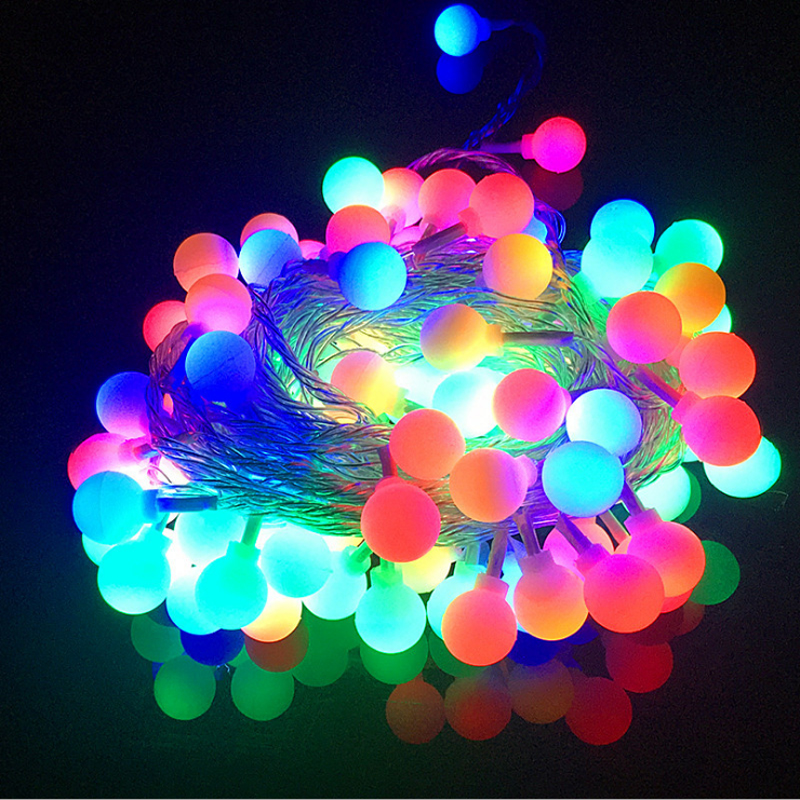 3M 6M 10M Battery Fairy Garland LED Ball String Lights Waterproof Decorative For Christmas Tree Wedding Home Indoor Decoration