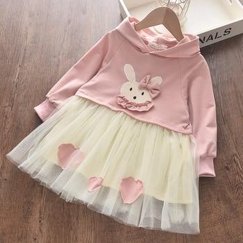 Bear Leader Winter Kids Dresses For Girls Long Sleeve Children Clothing Sequins Stars Tutu Casual Princess Party Dress