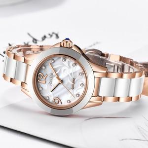 Image 4 - SUNKTA אופנה נשים שעונים גבירותיי צמיד שעון מזדמן קרמיקה קוורץ שעוני יד שעון עמיד למים שעון Relogio Feminino