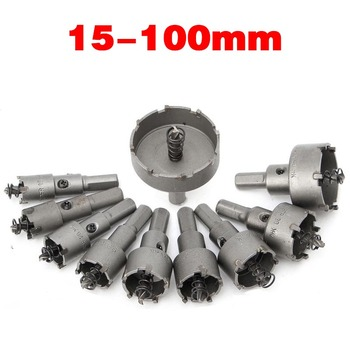 1Pcs TCT Carbide Tip Core Drill Bit Hole Saw Metalworking Cutter For Stainless Steel Alloy Metal Drilling 15-100mm - discount item  50% OFF Drill Bit