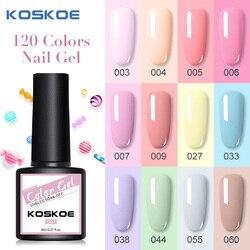 KOSKOE Новый УФ-гель для ногтей набор 8 мл Блестящий блесток отмачиваемый УФ Гель-лак для ногтей Дизайн ногтей Сделай Сам основа для ногтей верх...