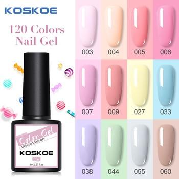 KOSKOE New UV Gel Nail Polish Kit 8ml Shining Glitter Sequin Soak Off UV Gel Nail Varnish Nail Art Design DIY Nail Base Top Coat недорого