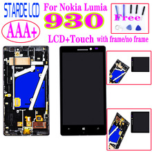 AAA+ LCD 5.0'' For Nokia Lumia 930 LCD Display +Touch Screen Digitizer Assembly With Frame цена 2017