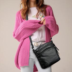 Image 1 - Bolso de hombro de piel suave para mujer, bandolera de diseñador, de uso diario, color negro, 2020