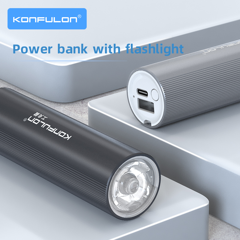 Lanterna elétrica banco de potência 5000 mah mini banco de potência recarregável lanterna 26650 bateria tenda lâmpada bicicleta luz para ao ar livre