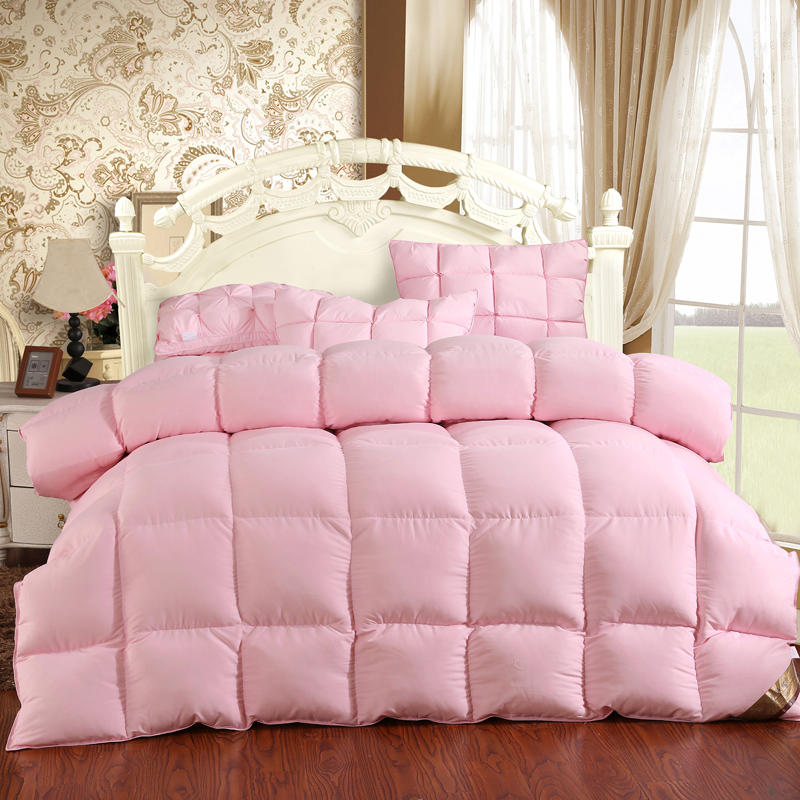 100% Goose Down Comforter Duvet Winter Down Blanket Feather Bed Soft Winter Quilted Quilt Blanket <font><b>150*200</b></font> Cotton Cover Comforter image
