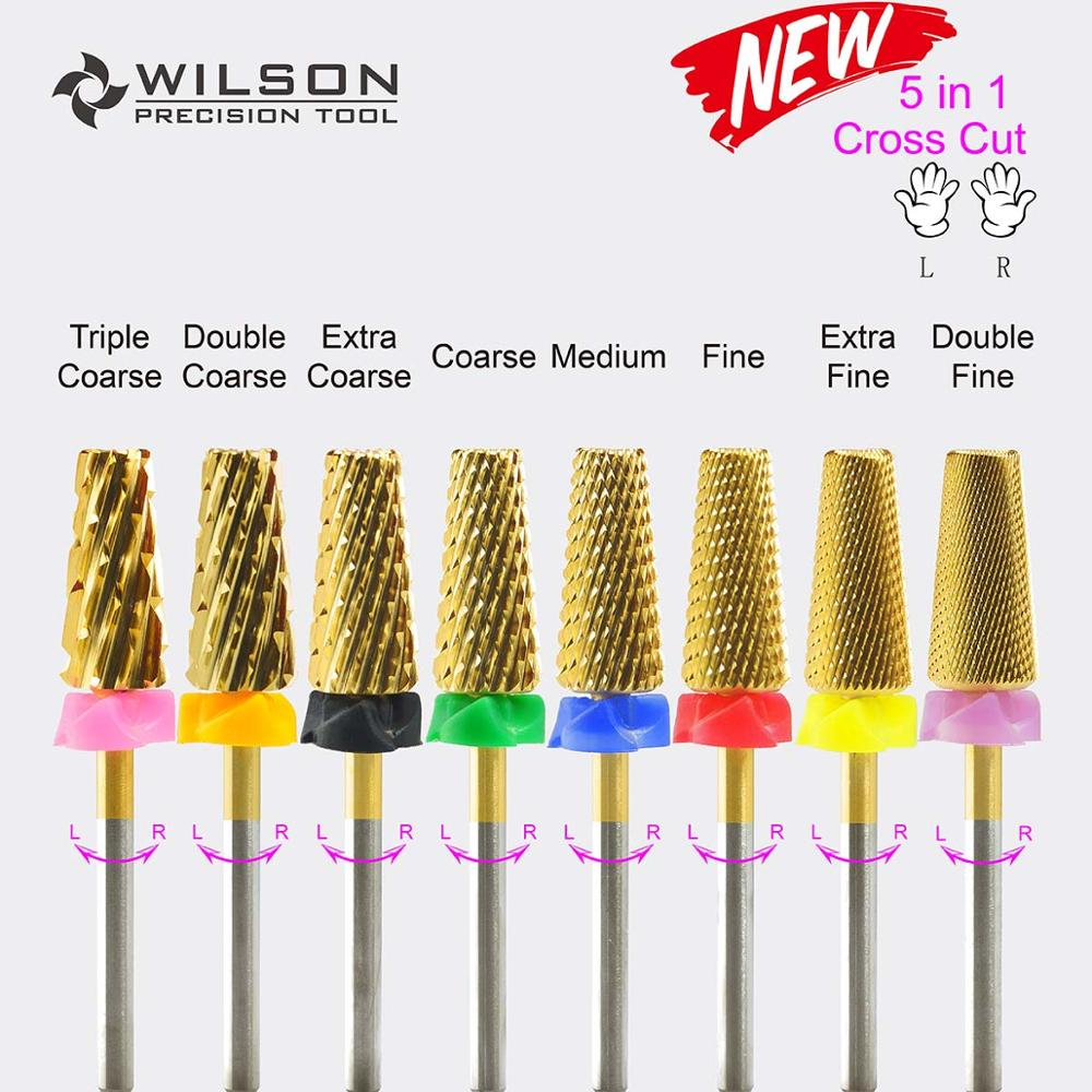 7.00mm 5 In 1 Cross Cut (Fastest Remove Acrylics Or Gels) - WILSON Carbide Nail Drill Bit