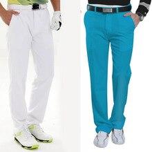 Мужская одежда для гольфа, длинные штаны, дышащие летние быстросохнущие штаны с эластичной резинкой на талии, тонкие мягкие G66