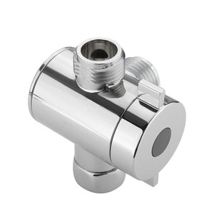 1/2 Inch Three Way T-adapter Valve For Toilet Bidet Shower Head Diverter Valve Eco-Friendly durable easy install Function Switch