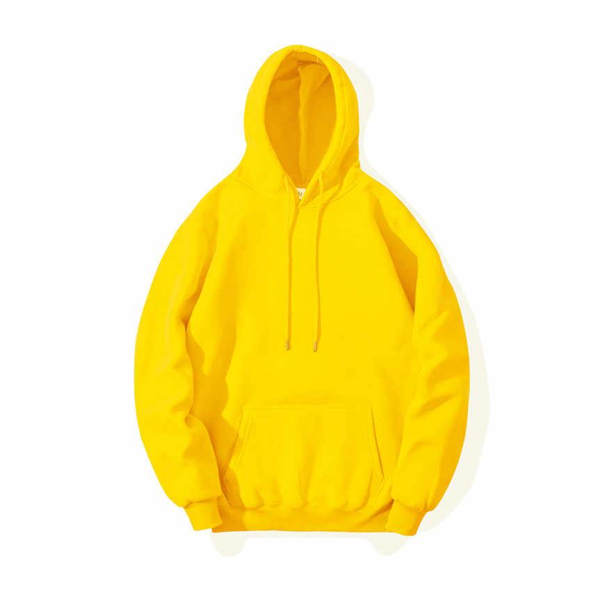 Sıcak 2020 ilkbahar sonbahar moda marka erkek Hoodies erkek rahat Hoodies tişörtü erkekler düz renk Hoodies kazak Tops