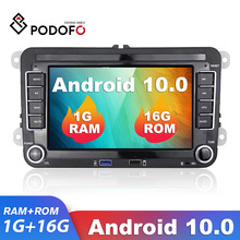 Podofo Android 10 2 Din Car Multimedia Player 7 ''Canbus autoradio GPS MP5 Player per Skoda VW Passat B6 Polo Golf Touran Seat