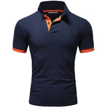 2019 New men summers Polo sportswears shorts sleeve Classic style pure color Business attire Stylish men slim brand polo shirts