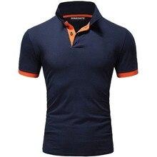 Polo de sport pour hommes, manches courtes, style classique, couleur pure, tenue daffaires, slim, nouvelle collection 2019