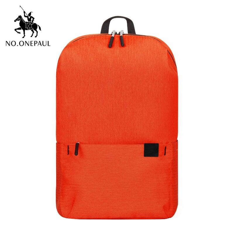 NO.ONEPAUL Mochila, женский рюкзак для путешествий, женский рюкзак, модный, кольцо, украшение, на плечо, для книг, сумка, легкая, повседневная сумка - Цвет: PCKG Orange