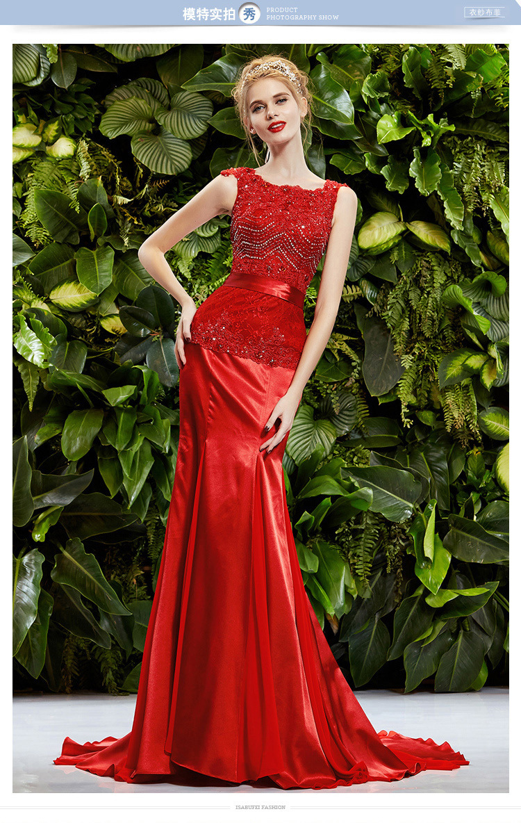 robe de soiree vestidos de novia party prom gown beading appliques 2018 red long evening Formal gown Mother of the Bride Dresses