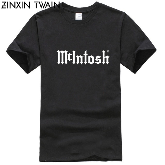 McIntosh Home Audio Logo Men T-Shirt Men Funny Print Women Tops Tee Casual O-neck Tshirts