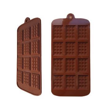 Foremki do czekoladek sprzęt do pieczenia i akcesoria foremki do ciasta wysokiej jakości kwadratowe ekologiczne silikonowe formy silikonowe DIY tanie i dobre opinie CN (pochodzenie) Prostokątne 12 even DIY chocolate waffle mold SILICONE 40 grams 22 5 * 10 5 * 0 5cm
