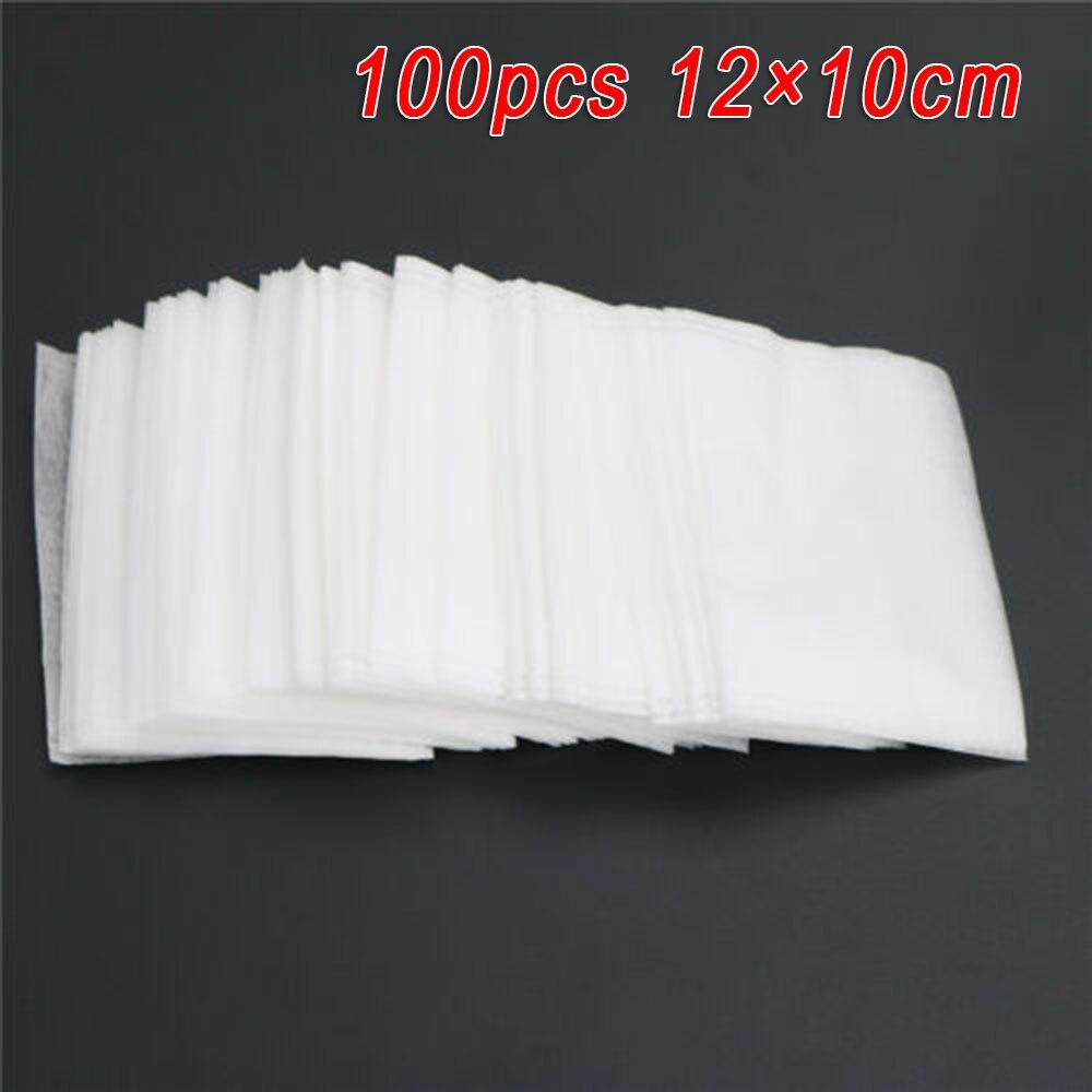 100pcs/Lot Teabags 12*10cm Reusable Empty Herbal Tea Spices Bags Corn Fiber Sealing Filter Medcine Bags Drawstring Bags