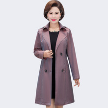 Fashion Trench Coat For Women Spring Autumn Turn-down Collar Long Sleeve With Belt Outerwear Female Windbreaker Casaco Feminino turn down collar medium long loose trench coat men overcoat long sleeve mens clothing fashion outerwear casaco masculino black