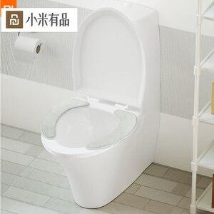 Image 1 - Youpin sedile del water 1 pair Selezionato flanella nessuna traccia di adsorbimento facile da rimuovere e lavare protable caldo per famlily inverno