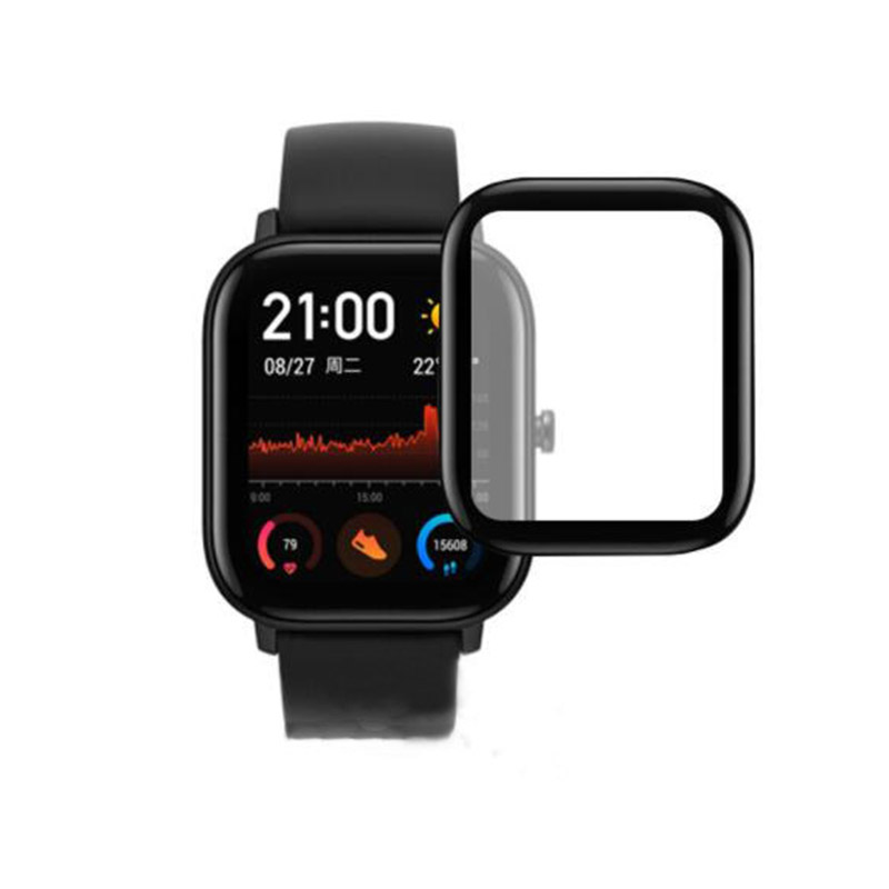 3D Curved Edge Full Coverage Soft Clear Protective Film Cover For Amazfit GTS Smart Watch LCD Screen Protector Guard (Not Glass)